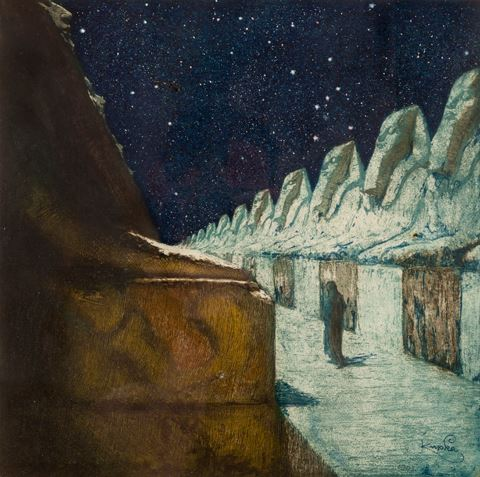 художник Франтишек КУПКА (1871-1957) /«Путь тишины II»