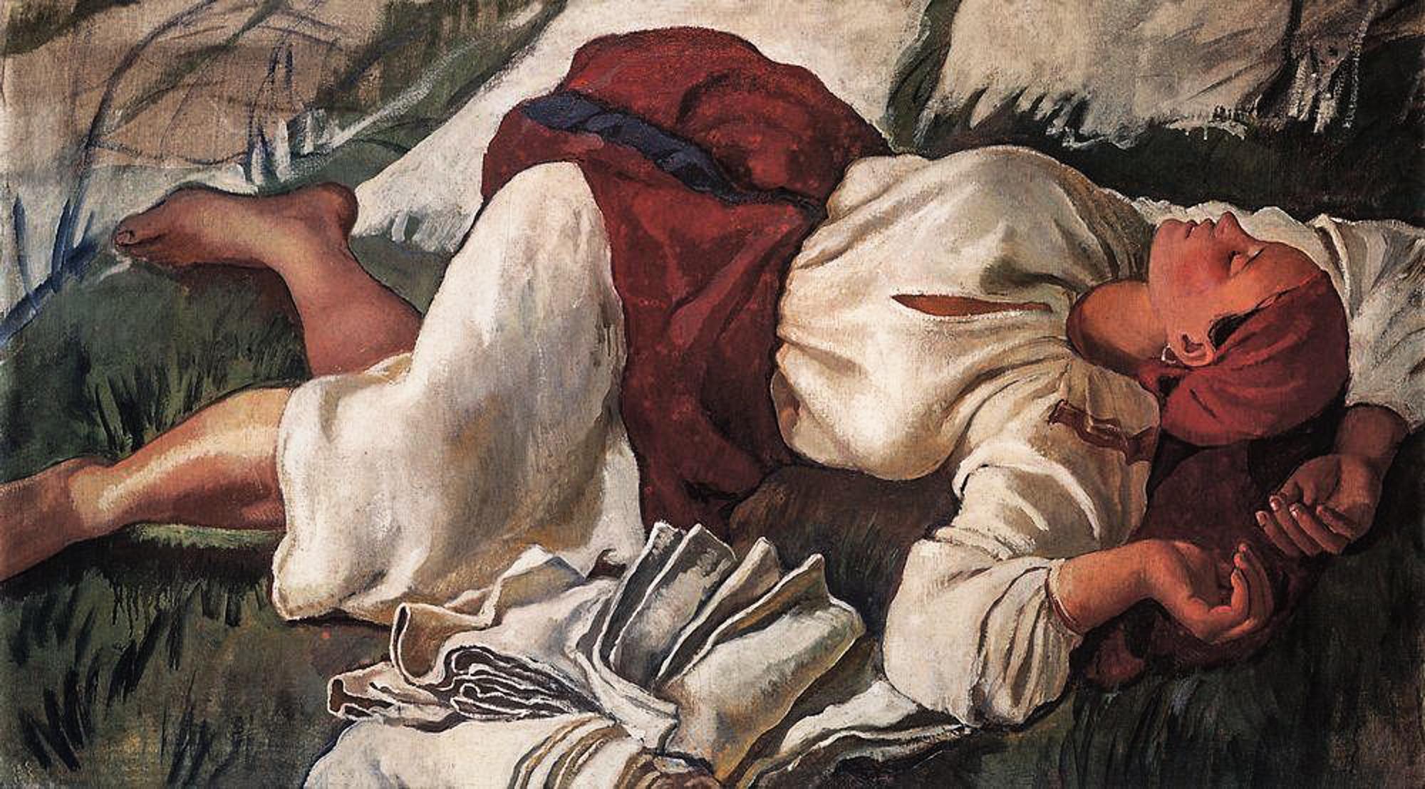 Зинаида Серебрякова / «Спящая крестьянка» / 1917
