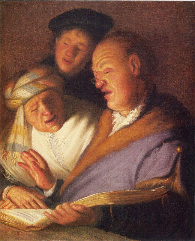 Рембрандт / «Три певца (Слух)» / 1625