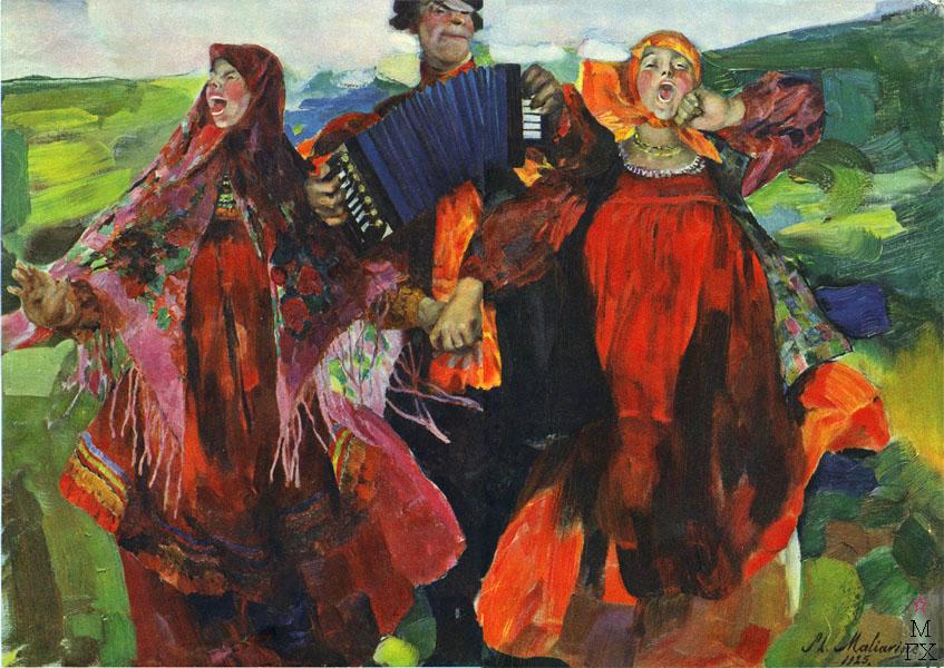 Филипп Малявин / «Народная песня» / 1925