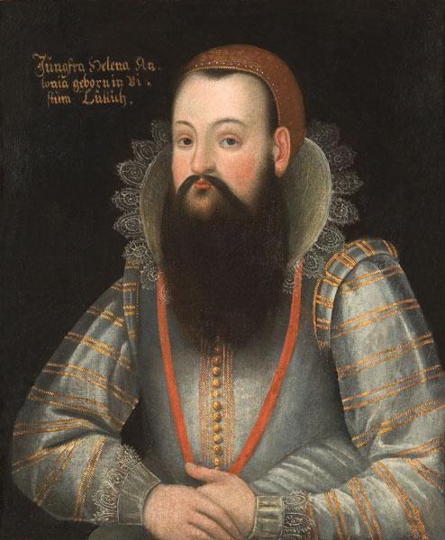 Anonymous / «Бородатая женщина Хелена Антония» / 1621