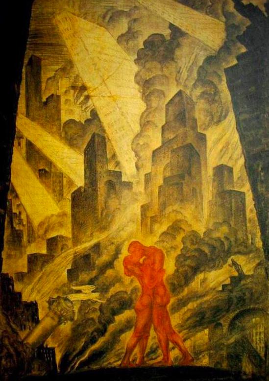 художник / художественный критик Мстислав Добужинский (1875-1957) / «Поцелуй» / 1916