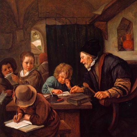 Ян Стен / «Суровый учитель» / 1668