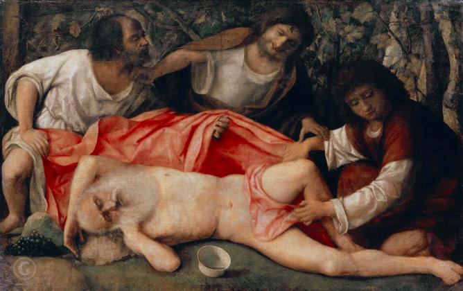 Джованни Беллини / «Опьянение Ноя» / 1515