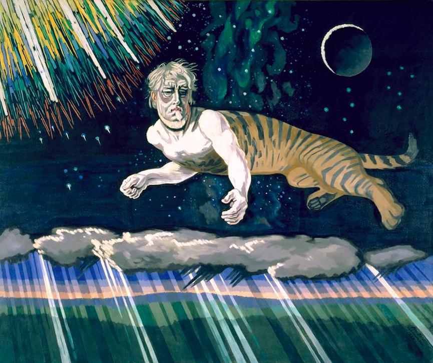 художник Йенс Фердинанд ВИЛЛУМСЕН (1863-1957) / «Загадка небес. Третья картина трилогии умирания Тициана»