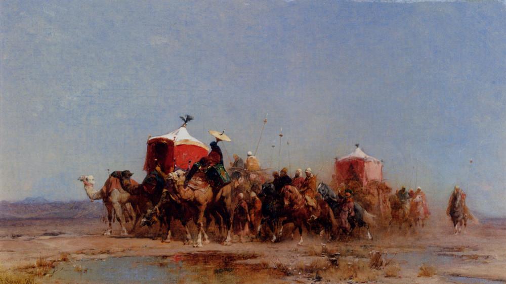 Альберто Пасини / «Караван в пустыне» / 1867