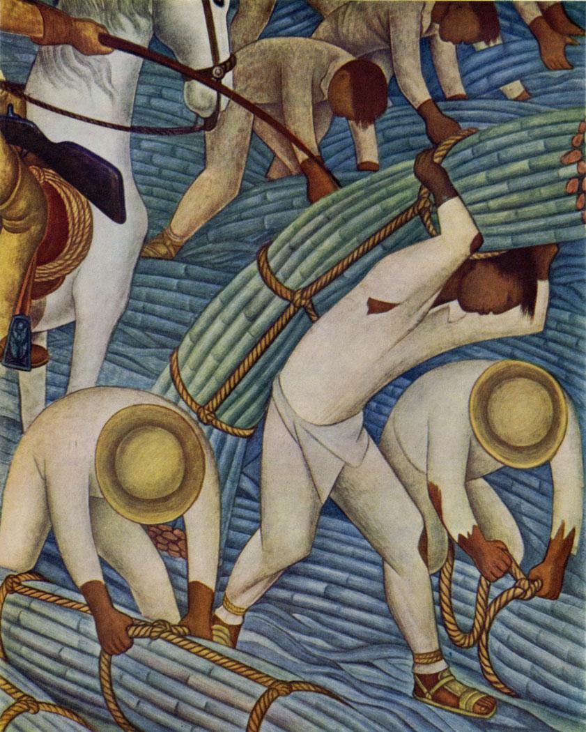 Диего Ривера / «Сбор сахарного тростника», фрагмент / 1929-30