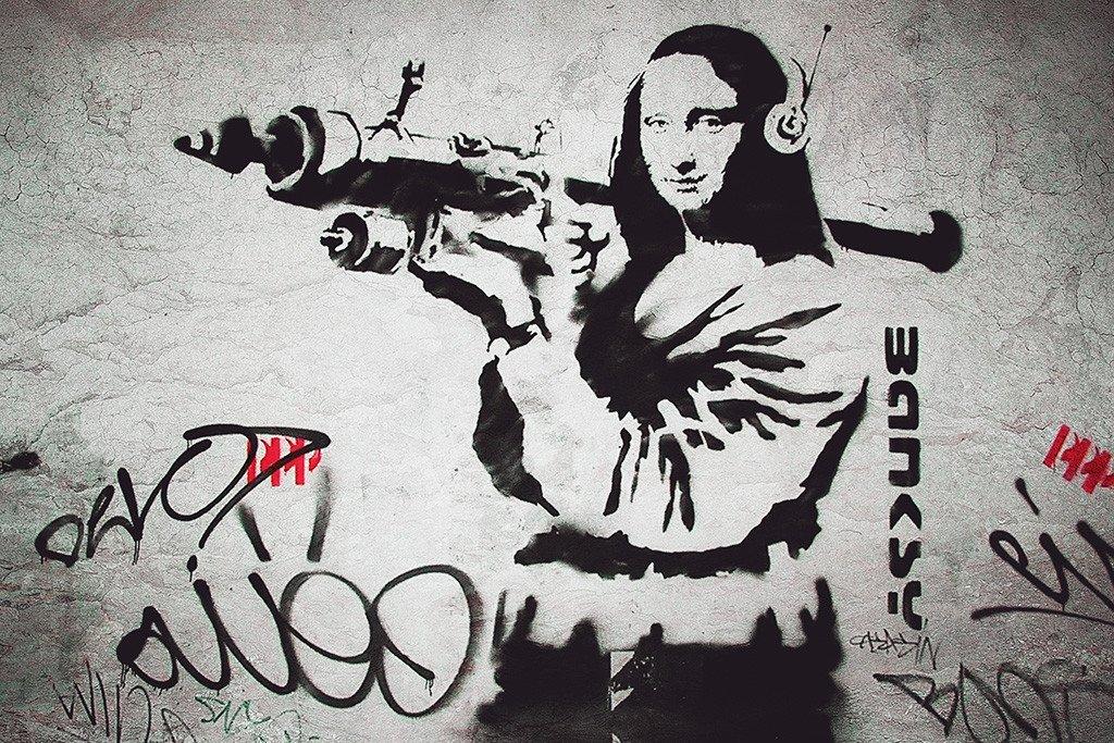 Бэнкси / «Мона Лиза с базукой» / 2001