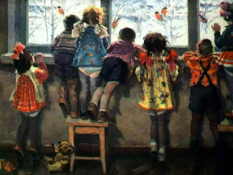Николай Ульянов / «Снегири. Детский сад» / 1964