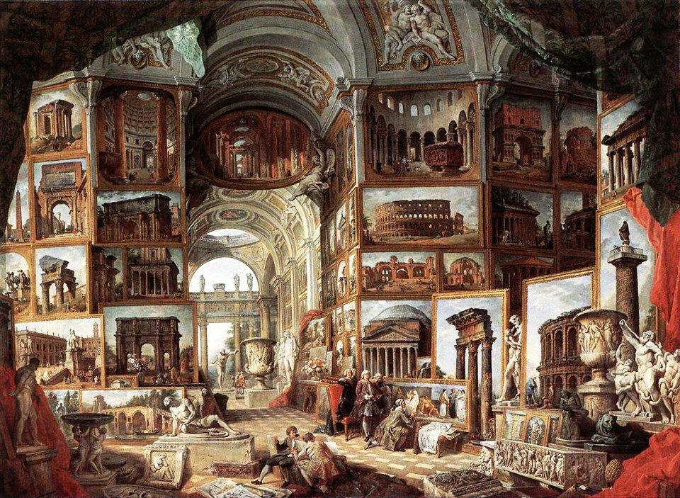 Джованни Паоло Панини / «Каприччио с видами Рима» / 1758