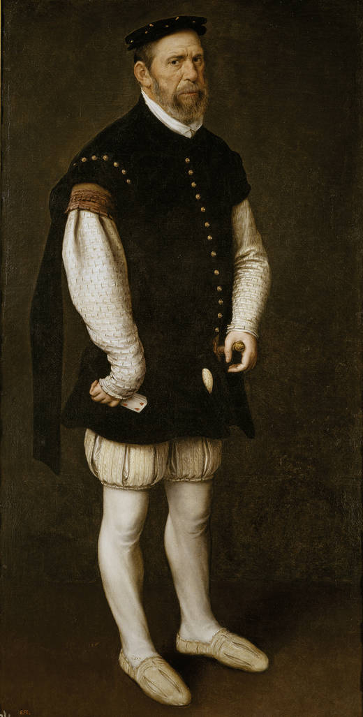 Антонис Мор / «Пехерон, придворный шут графа Беневенте и великого герцога Альбы» / ок.1560
