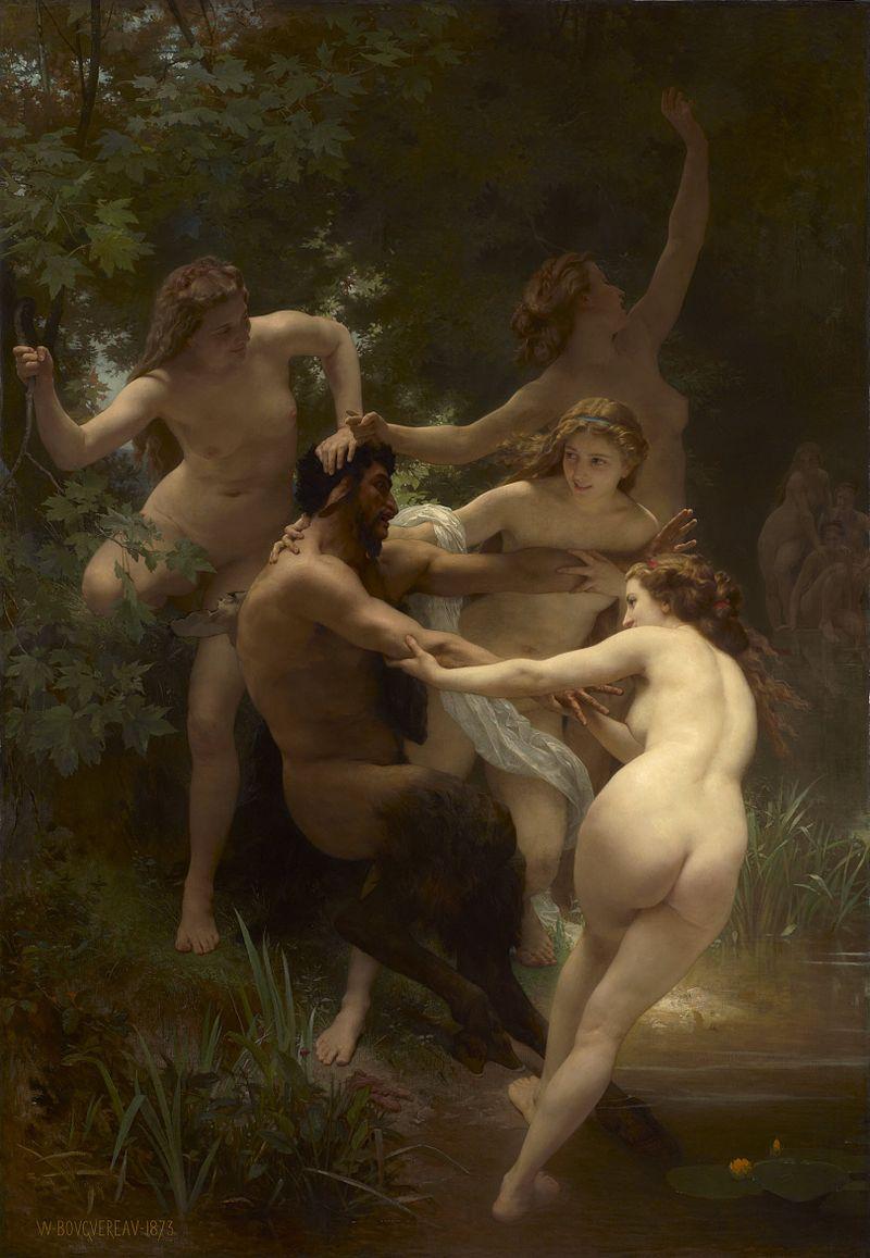 Вильям Бугро / «Нимфы и сатир» / 1873
