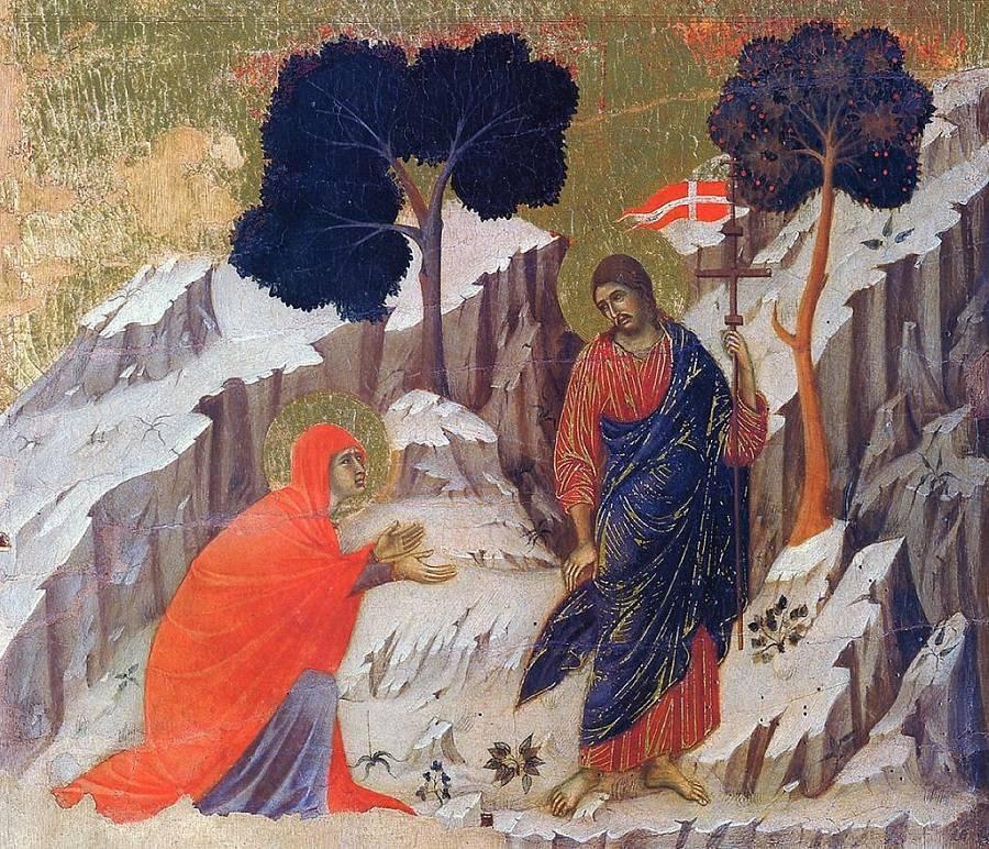 Дуччо ди Буонинсенья / «Явление Христа Марии Магдалине» / ХIVв.