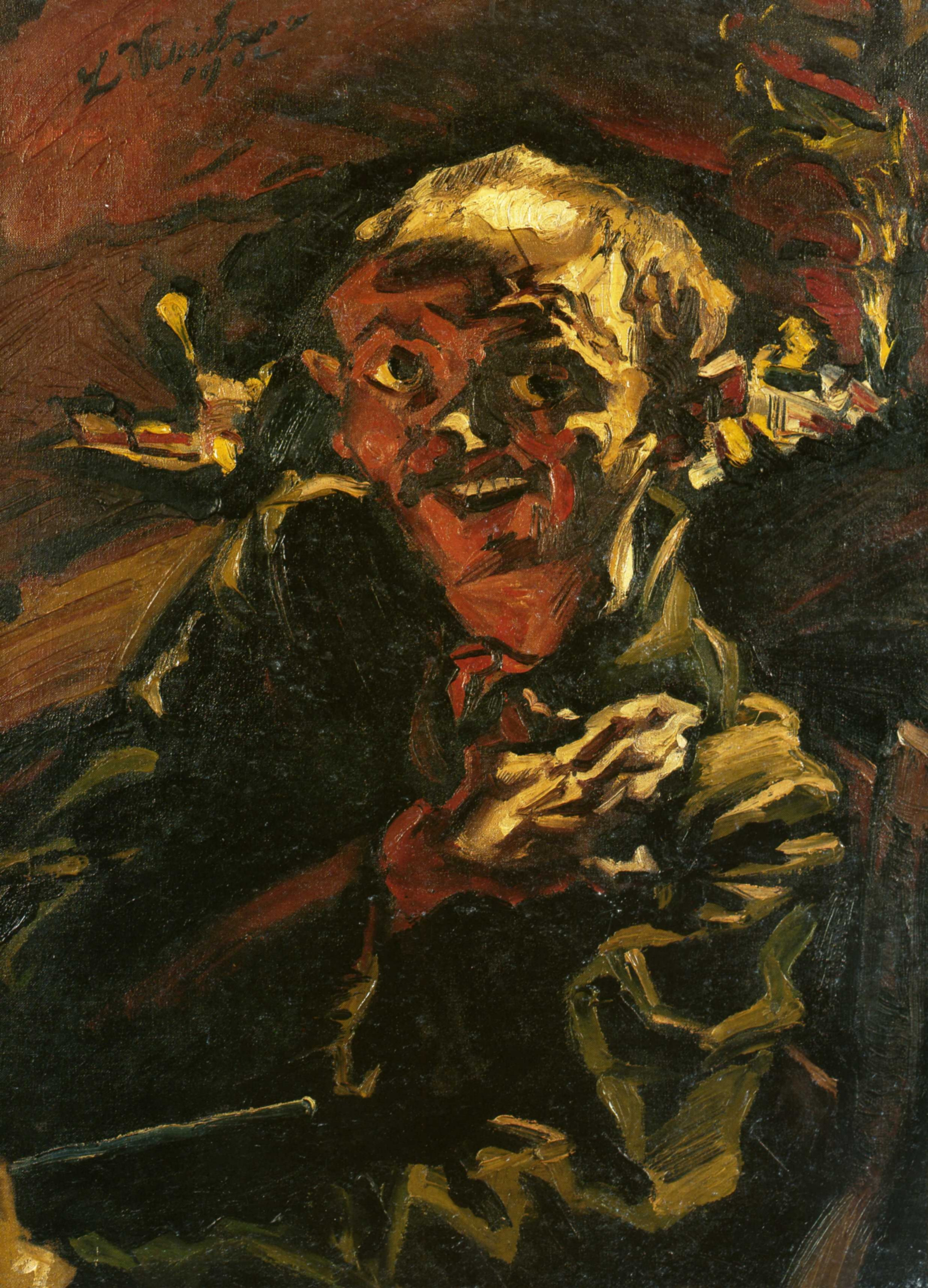 художник / писатель Людвиг МЕЙДНЕР (1884-1966) / «Автопортрет»