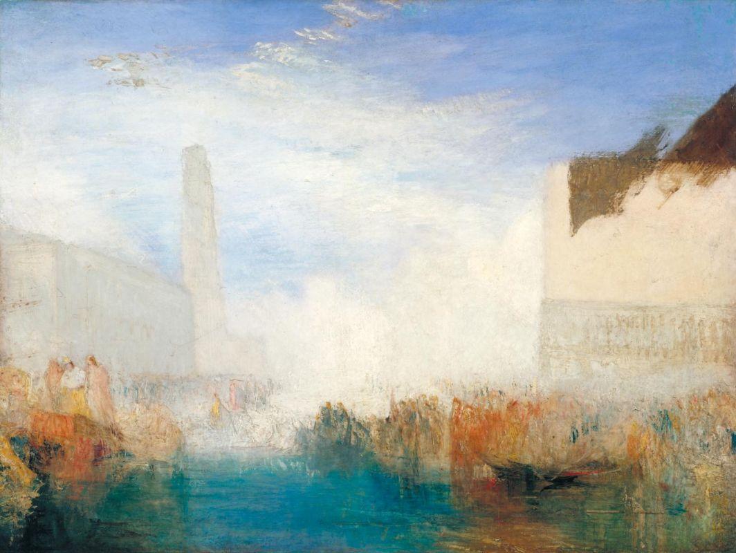художник Уильям ТЁРНЕР (1775-1851) / «Венеция, Пьяццетта. Церемония обручения дожа с морем»