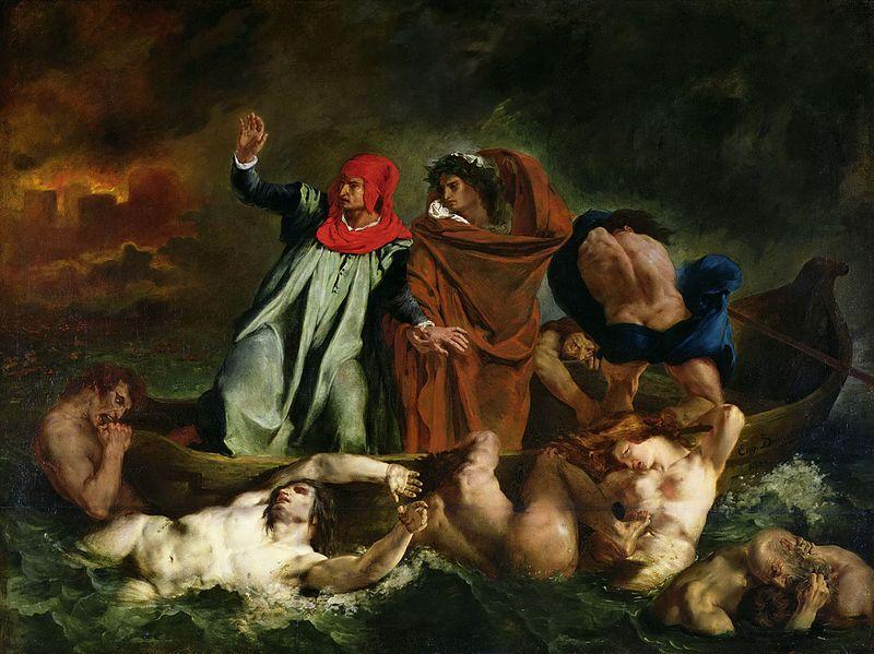художник Эжен ДЕЛАКРУА (1798-1863) / «Данте и Вергилий в аду»