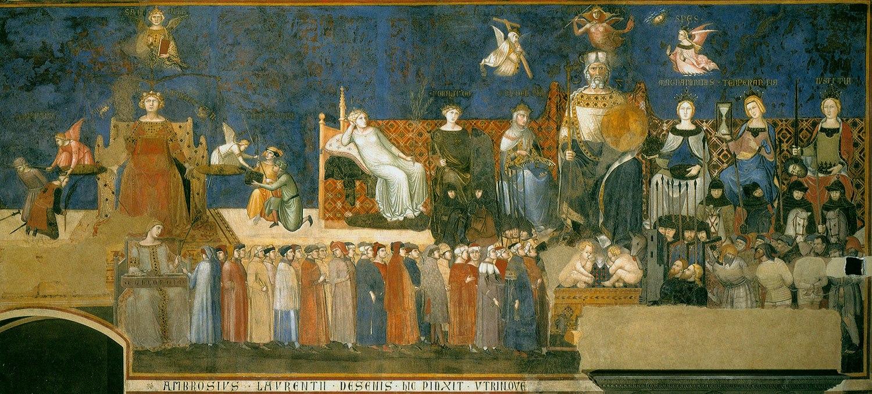 Амброджо Лоренцетти / «Аллегория доброго правления», деталь / 1337-39