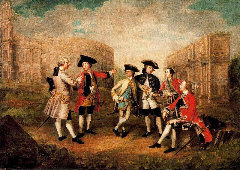 Джеймс Расселл / «Английские туристы в Риме» / ок.1750