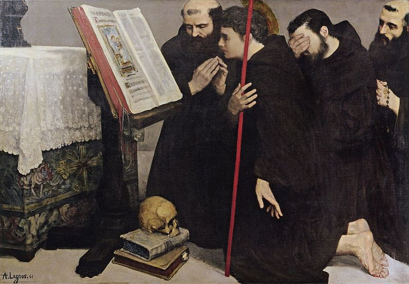 художник Альфонс ЛЕГРО (1837-1911) / «Призвание Святого Франциска»
