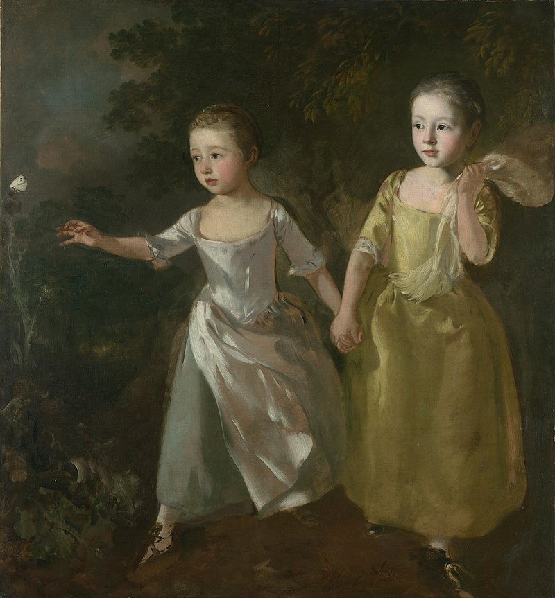 художник Томас ГЕЙНСБОРО (1727-1788) / «Портрет дочерей, преследующих бабочку»