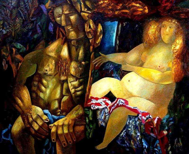 художник Миша БРУСИЛОВСКИЙ (1931-2016) / «Самсон и Далила»