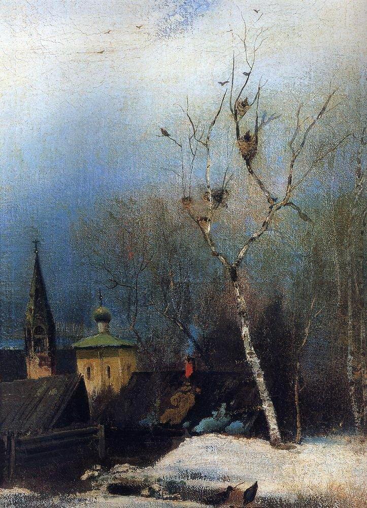 художник Алексей САВРАСОВ (1830-1897) / «Ранняя весна»
