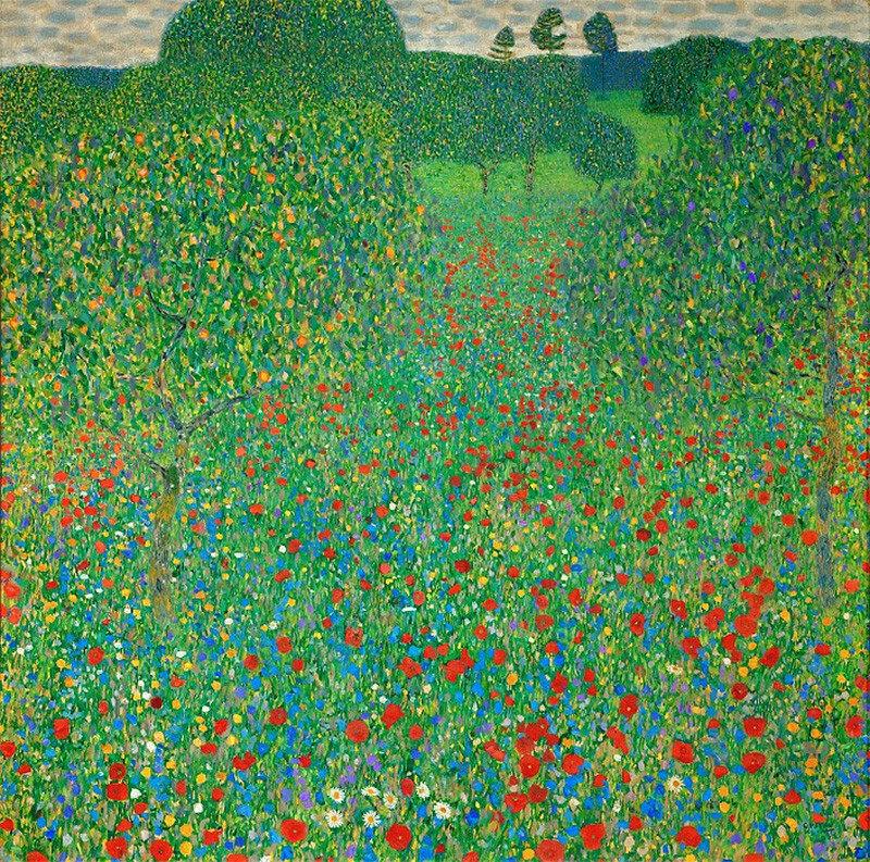 Густав Климт / «Маковое поле» / 1907