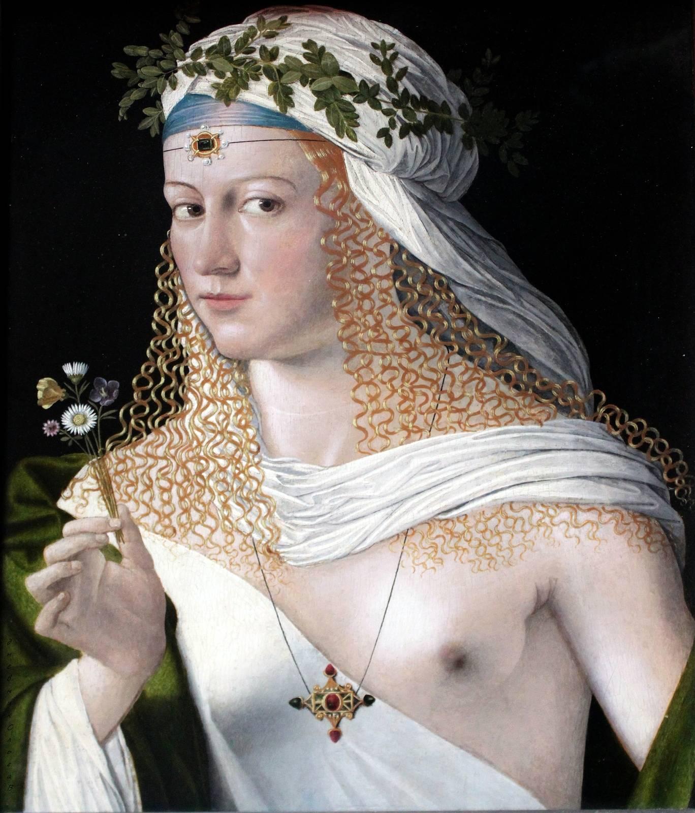 Бартоломео Венето / «Портрет куртизанки в образе Флоры» / 1520