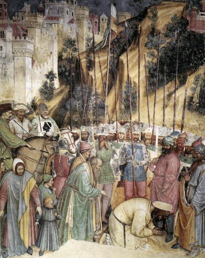 Альтикьеро да Дзевио / «Усекновение главы святого Георгия», (фреска в капелле Сан-Джорджо, Падуя) / 1379
