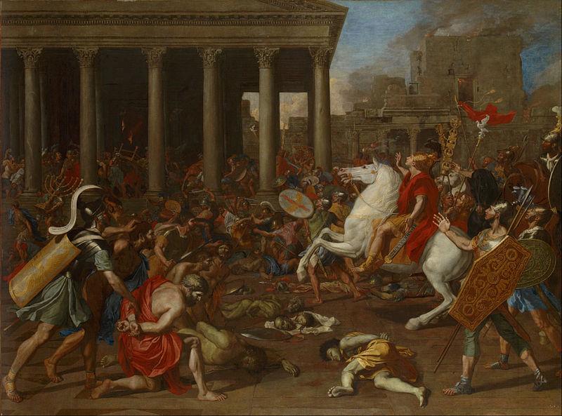 Никола Пуссен / «Разрушения Титом храма в Иерусалиме» / ок. 1638-39
