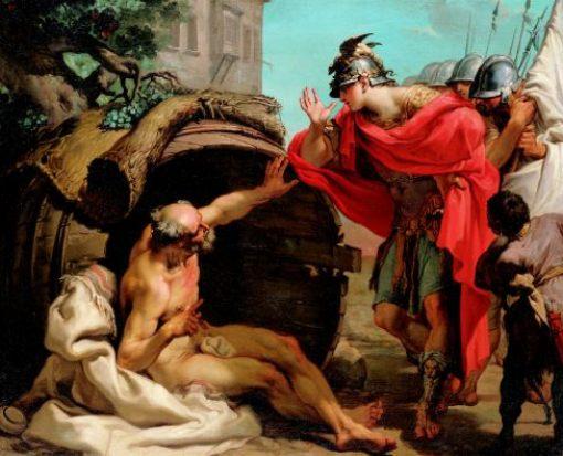 художник Гаэтано ГАНДОЛЬФИ (1734-1802) / «Александр и Диоген»
