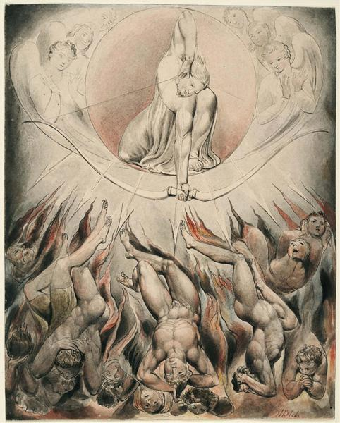 Уильям Блейк / Иллюстрации к поэме Д.Мильтона «Потерянный рай» / 1807