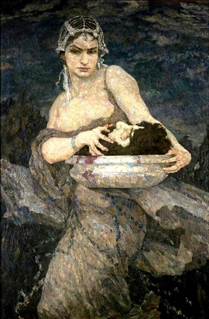 художник Ганс УНГЕР (1872-1936) / «Саломея»