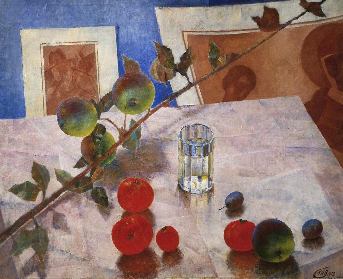 Кузьма Петров-Водкин / «Розовый натюрморт. Ветка яблони» / 1918