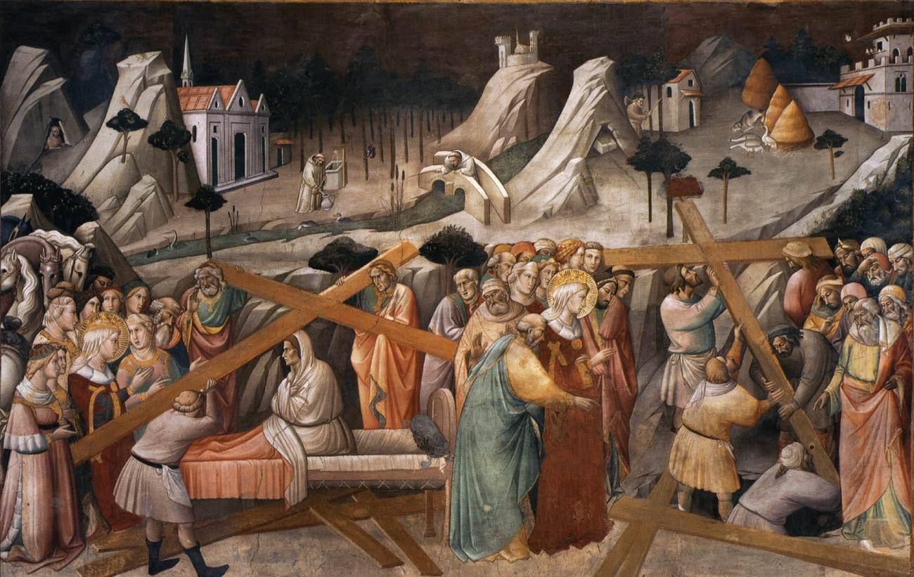 Аньоло Гадди / «Обретение Креста Господня», фреска капеллы Маджоре в базилике Санта-Кроче, Флоренция / 1380
