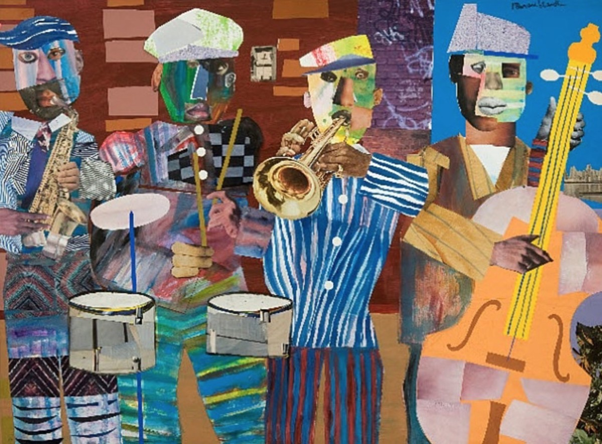 художник Ромаре БЕРДЕН (1911-1988) / «Jazz Village»
