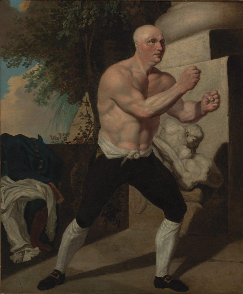 художник Джон Гамильтон МОРТИМЕР (1740-1779) / «Боксер. Джек Бротон»