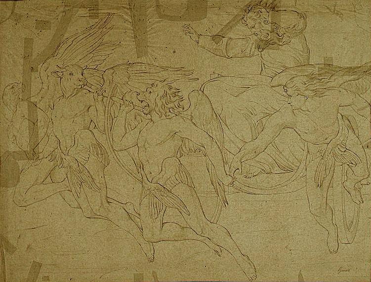 художник Бонавентура ДЖЕНЕЛЛИ (1798-1868) / «Видение Иезекииля»