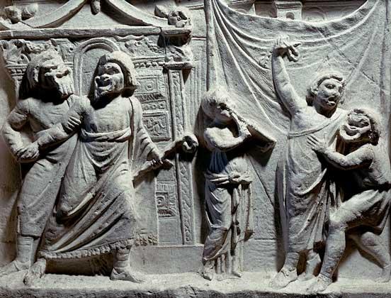 Unknown / горельеф «Сцена из римской комедии» / 2 век н.э.