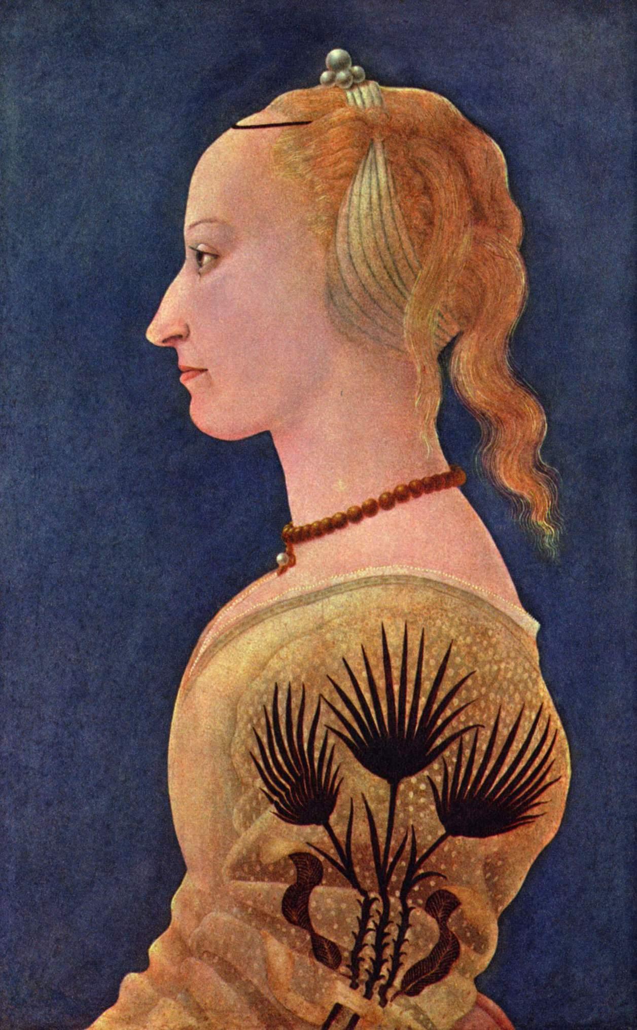 художник Алессио БАЛЬДОВИНЕТТИ (1425-1499) / «Портрет дамы в жёлтом»