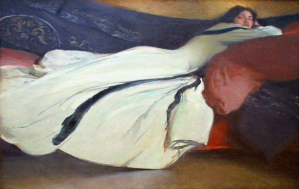 художник Джон Уайт АЛЕКСАНДЕР (1856-1915) / «Отдых»