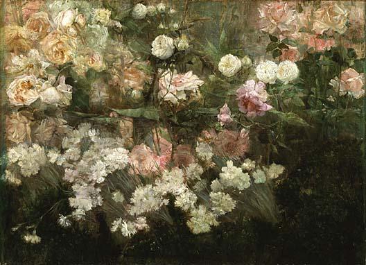 художница Мария Оки ДЬЮИНГ (1845-1927) / «Сад в мае»