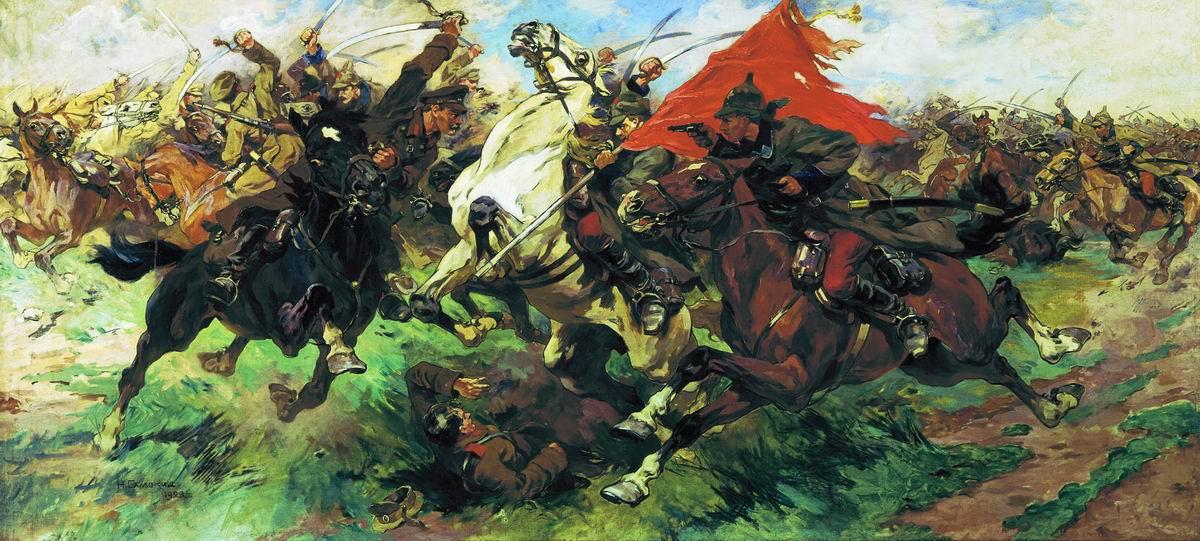 художник Николай САМОКИШ (1860-1944) / «Бой за знамя. Атака»