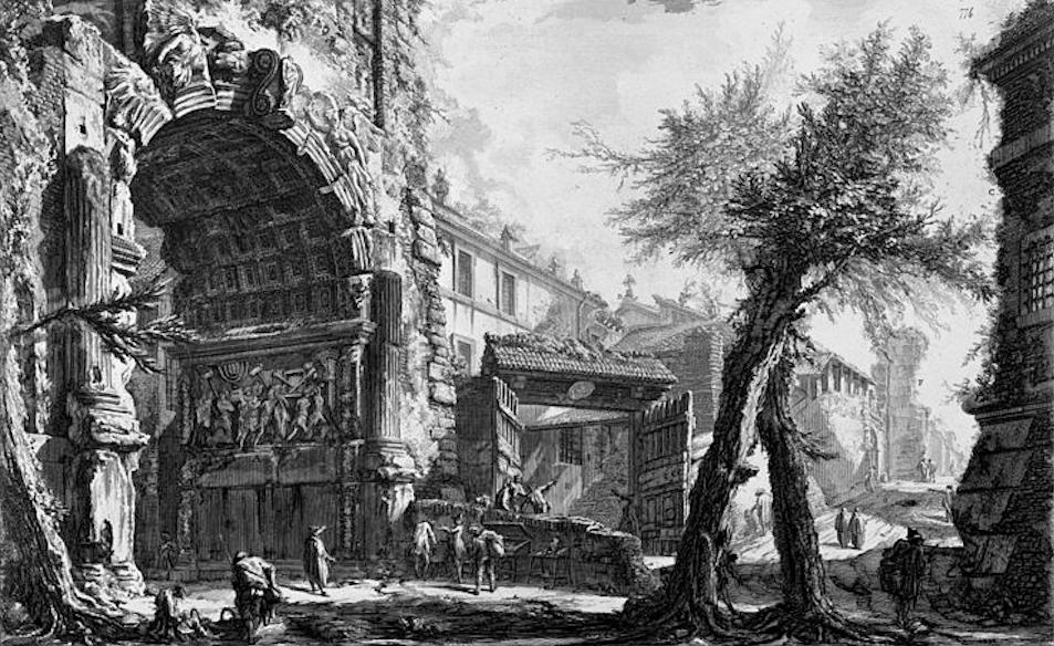 художник Джованни Баттиста ПИРАНЕЗИ (1720-1778) / «Триумфальная арка Тита»