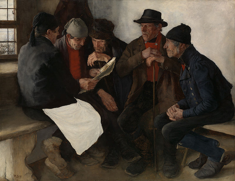 художник Вильгельм ЛЕЙБЛЬ (1844-1900) / «Сельский политик»
