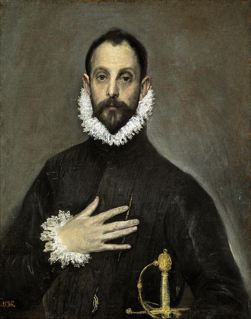 Эль Греко / «Рыцарь с рукой на груди» / ок.1580