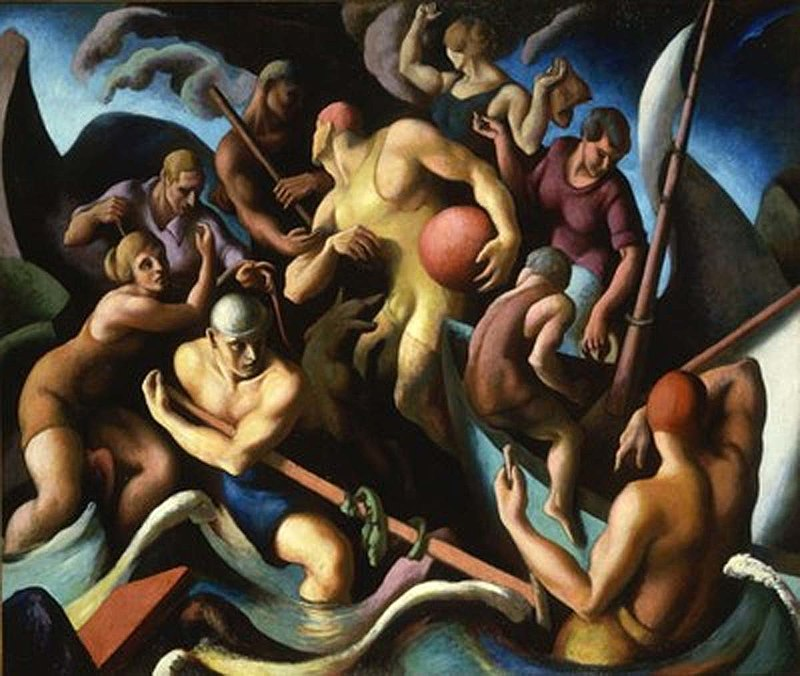 художник Томас Харт БЕНТОН (1889-1975) / «People of Chilmark» (Figure composition)