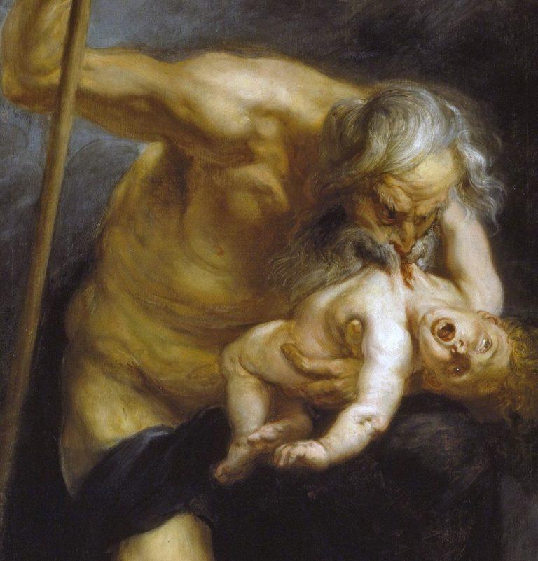 Питер Пауль Рубенс / «Сатурн, пожирающий своего сына», фрагмент / 1636-38