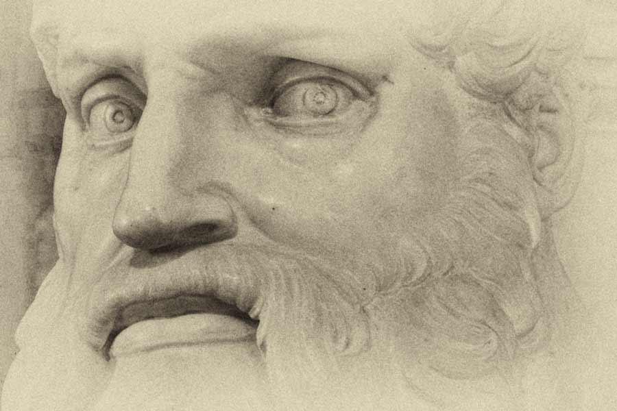 Микеланджело / «Моисей», фрагмент / 1515