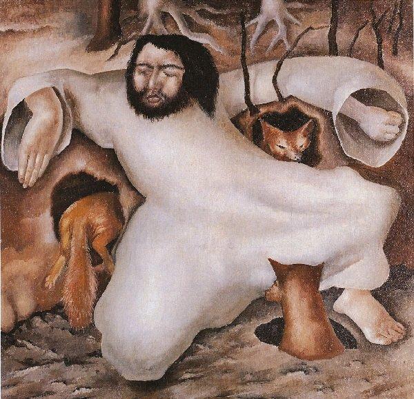 художник Стэнли СПЕНСЕР (1891-1959) / «Христос в пустыне. Лисы»